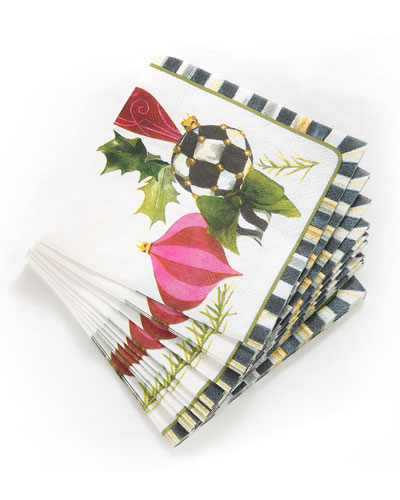 Deck the Halls Paper Cocktail Napkins