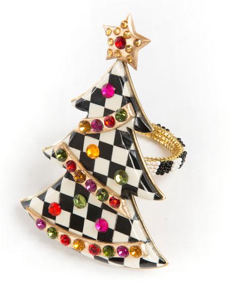 Christmas Tree Napkin Rings.Christmas Tree Napkin Ring