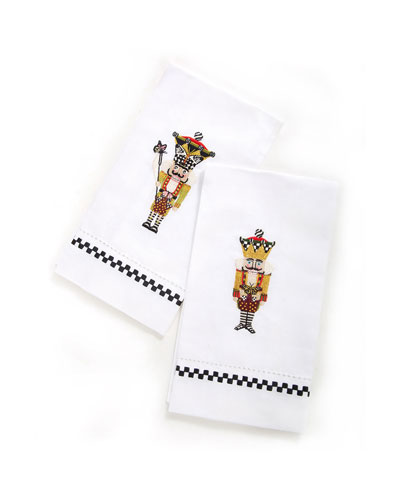 Nutcracker Guest Towels, 2-Piece Set