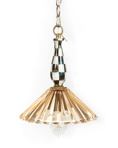 Amber Courtly Check Ballerina 1-Light Pendant