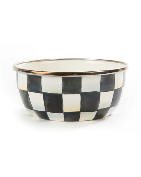MacKenzie-Childs Courtly Check Enamel Pinch Bowl