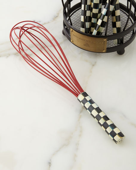 MacKenzie-Childs Courtly Check Large Red Whisk