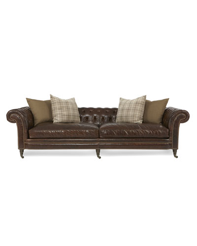 Lauren Tufted Leather Sofa