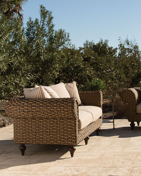 Hemingway Outdoor Chesterfield Loveseat