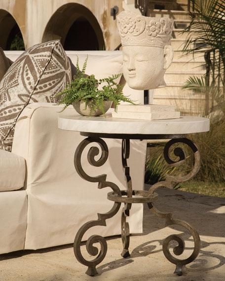 Hemingway Outdoor Florentine Round End Table