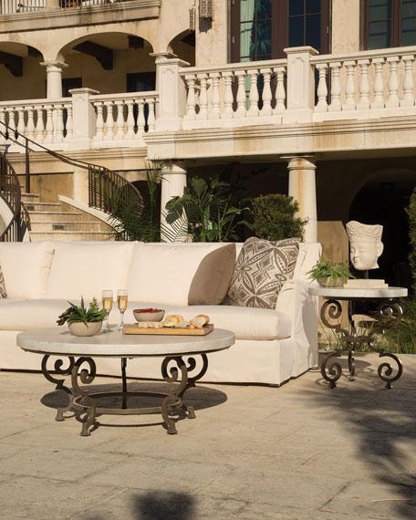 Hemingway Outdoor Florentine Round Coffee Table