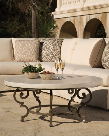 Lane Venture Hemingway Outdoor Florentine Round Coffee Table