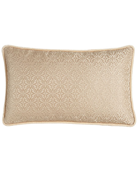 "Antonia Diamond-Weave Pillow, 14"" x 23"""
