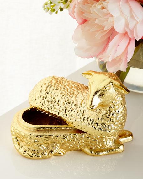 Brass Lamb Box
