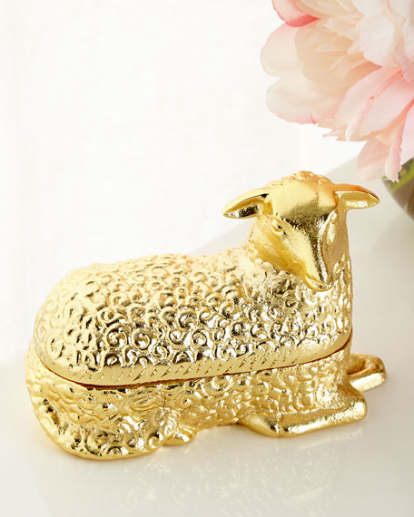 Brass Lamb Box