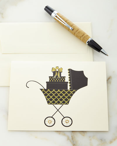 Scalloped Stroller Note Card Collection