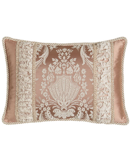 "Jessamine Pieced Pillow, 20"" x 14"""