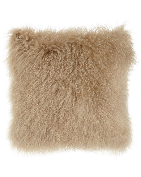 Massoud Camel Tibetan Lamb Pillow