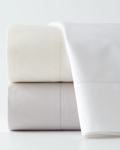 Two Standard N45 Classico Italian Giza Percale Pillowcases