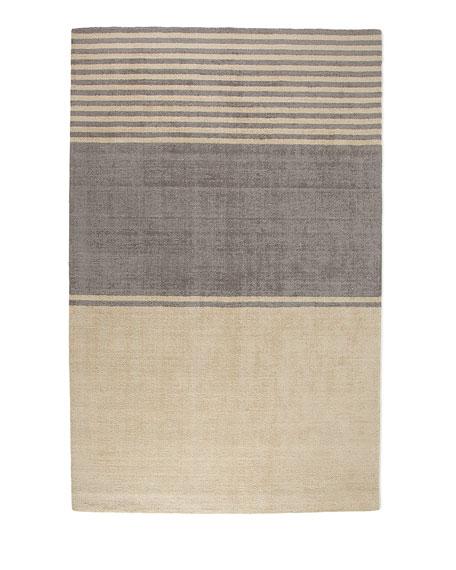 Gray Ribbon Rug, 4' x 6'