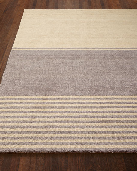 "Gray Ribbon Rug, 5'3"" x 7'5"""