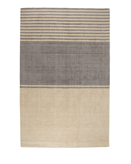 "Gray Ribbon Rug, 7'9"" x 10'10"""