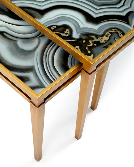 Nicola Painted-Agate Coffee Table