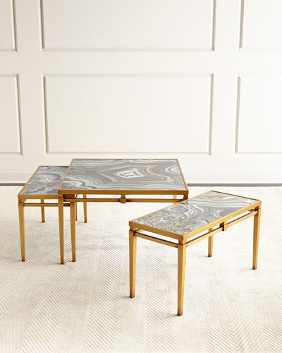 Nicola Painted-Agate Coffee Table