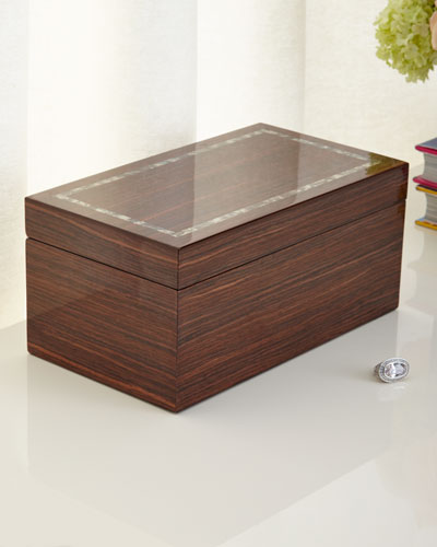 Studio Brown Lacquer Jewelry Box