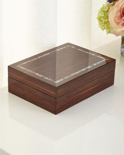 Studio Brown Lacquer Medium Storage Box