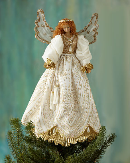 Cat Angel Christmas Tree Topper: Katherine's Collection Angel Christmas Tree Topper