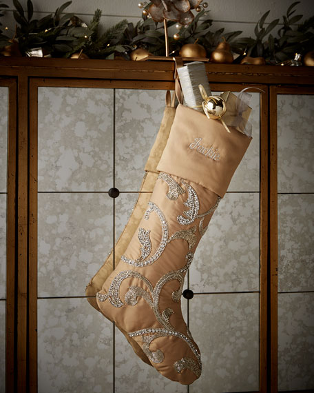 Open Scroll Christmas Stocking