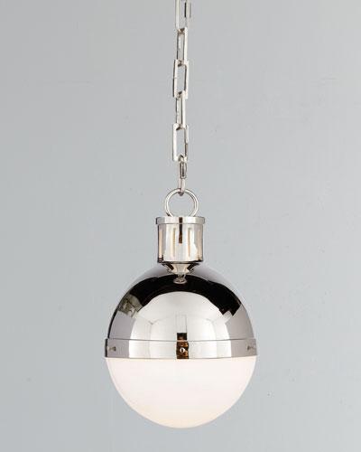 Hicks 1-Light Small Polished-Nickel Pendant