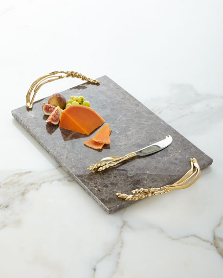 Wheat Cheese Board with Knife