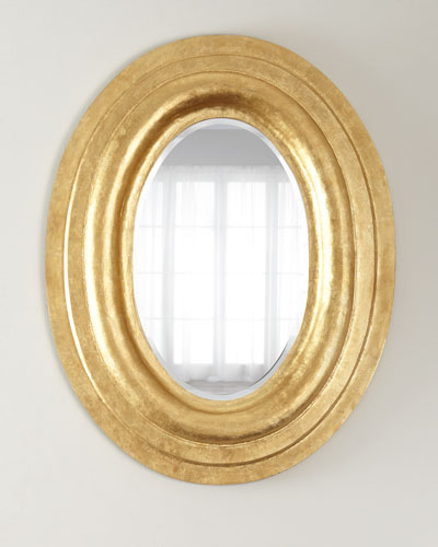Oval Gold-Leaf Mirror
