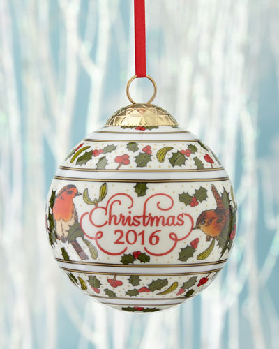 Robin Dated Christmas Bauble