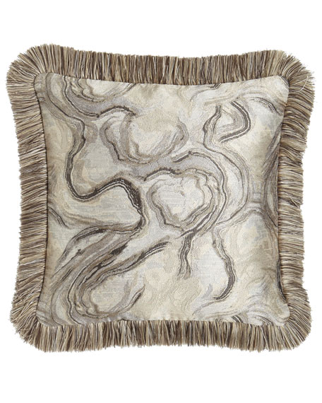 "Driftwood Reversible Pillow, 18""Sq."