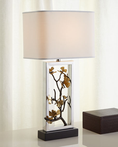 Handcrafted table lamp horchow quick look prodselect checkbox butterfly ginkgo table lamp mozeypictures Gallery