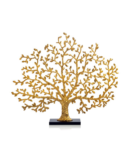 Tree of Life Golden Fireplace Screen