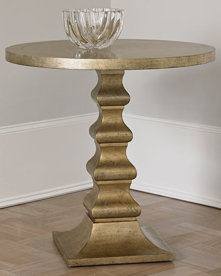 High Quality Ambella Dionis Champagne Side Table
