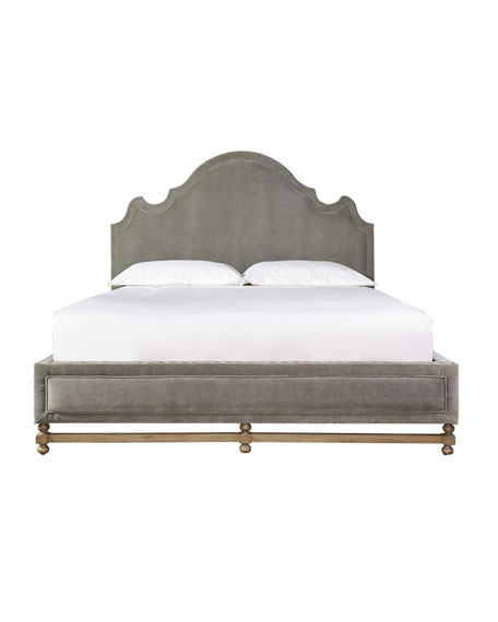 Aimee Velvet Queen Bed