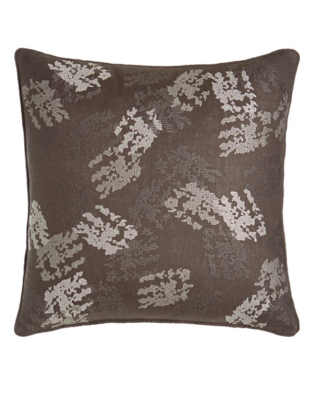 "Brush Strokes Pillow, 20""Sq."