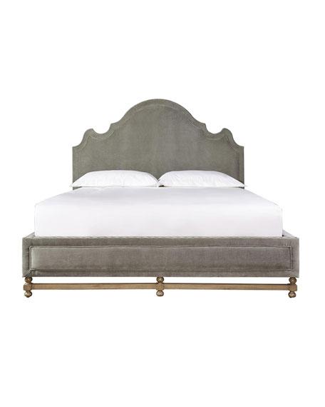 Aimee Velvet King Bed