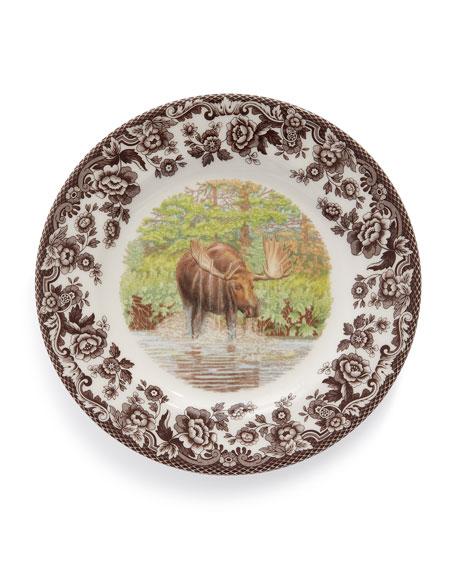 Woodland Moose Salad Plates, Set of 4
