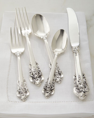 66-Piece Grande Baroque 75th Anniversary Flatware Service
