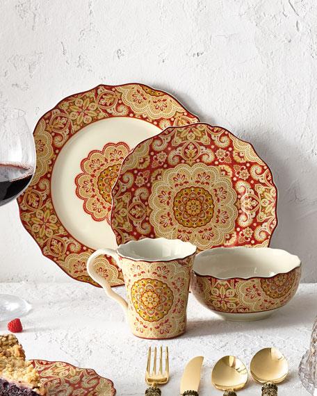 & Pts America 16-Piece Lyria Saffron Dinnerware Service