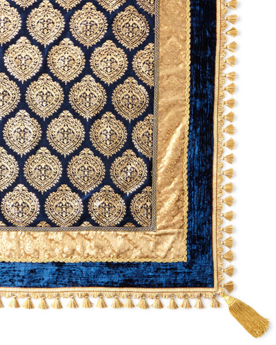 Kari Sapphire & Gold Table Topper
