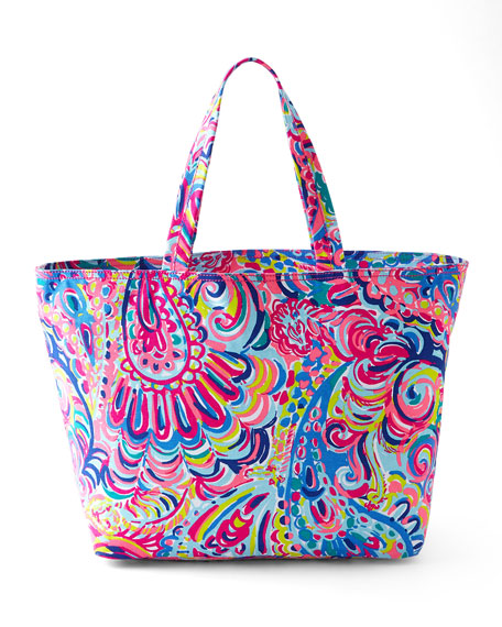 Psychedelic Sunshine Palm Beach Tote
