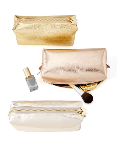 Metallic Cosmetic Travel Case