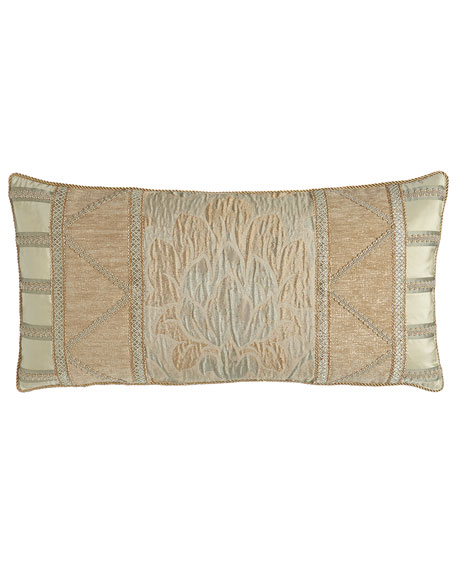 "Gwenneth Pieced Pillow, 14"" x 28"""