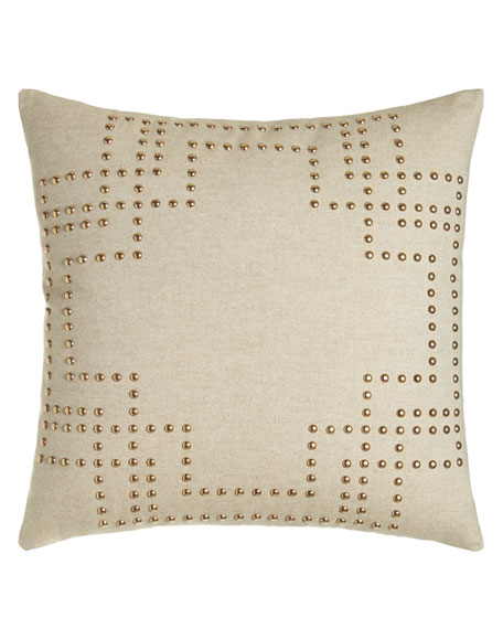 "Nailhead Pillow, 20""Sq."