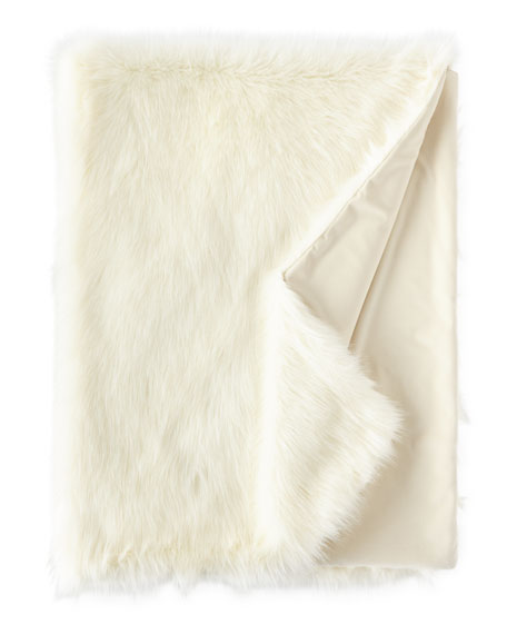 """Pearl Shag Faux-Fur Throw, 58"""" x 72"""""""