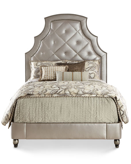 Bambi Quilted-Leather King Bed