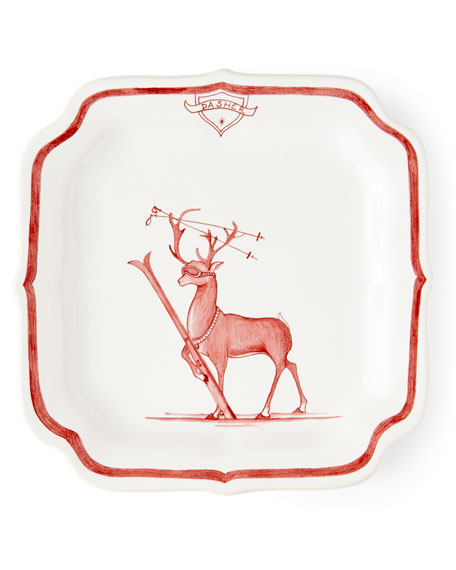 Country Estate Ruby Reindeer Games Dasher Party Plate