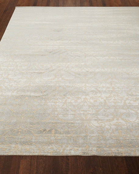 "Courtly Blue Rug, 3'5"" x 5'5"""